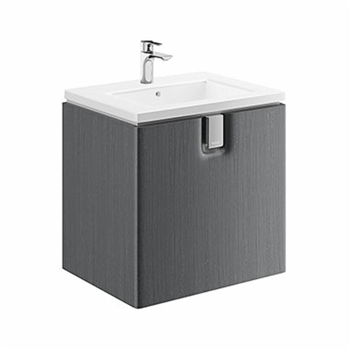Kúpeľňová skrinka pod umývadlo KOLO Twins 60x57x46 cm strieborný grafit 89487000