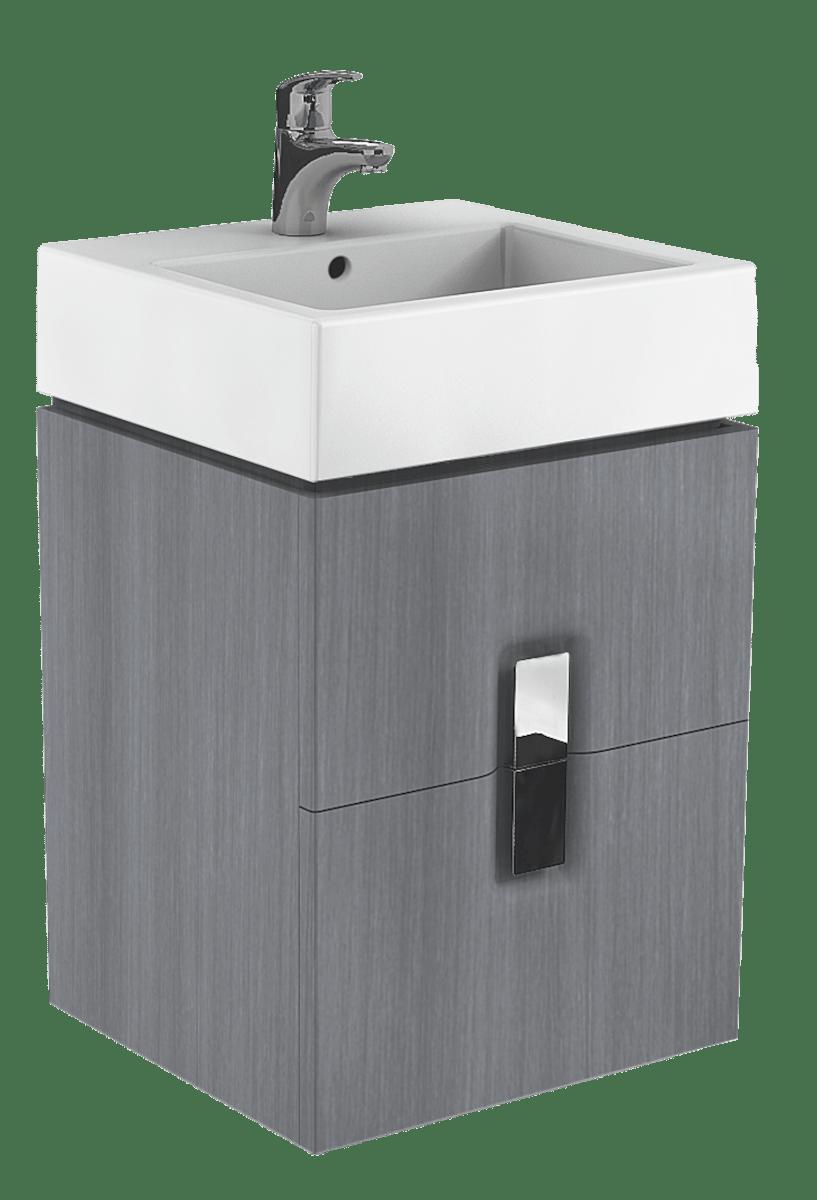 Kúpeľňová skrinka pod umývadlo Kolo Twins 50x46x57 cm v prevedení grafit strieborný 89490000