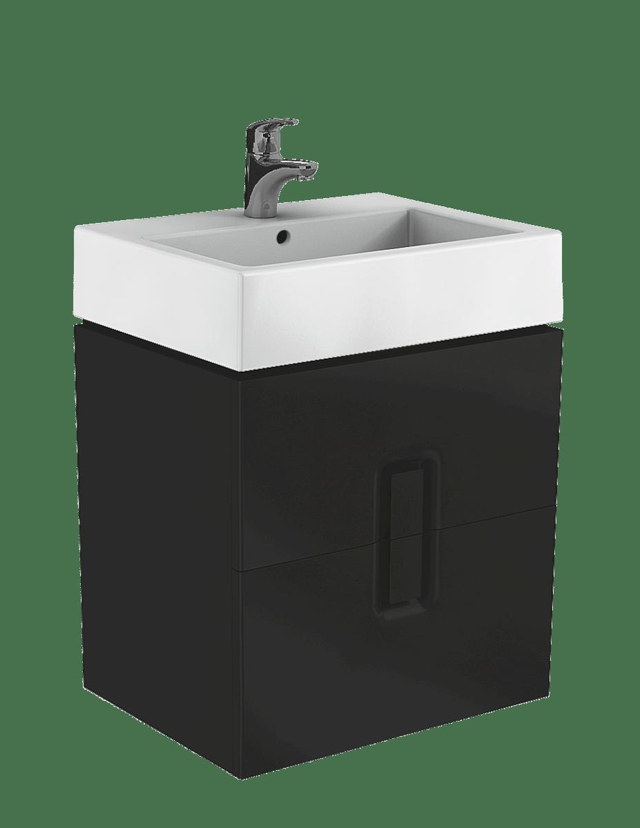 Kúpeľňová skrinka pod umývadlo Kolo Twins 60x46x57 cm čierna mat 89494000