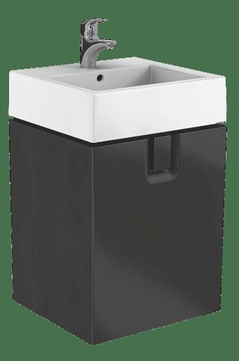 Kúpeľňová skrinka pod umývadlo Kolo Twins 50x46 cm čierna 89497000