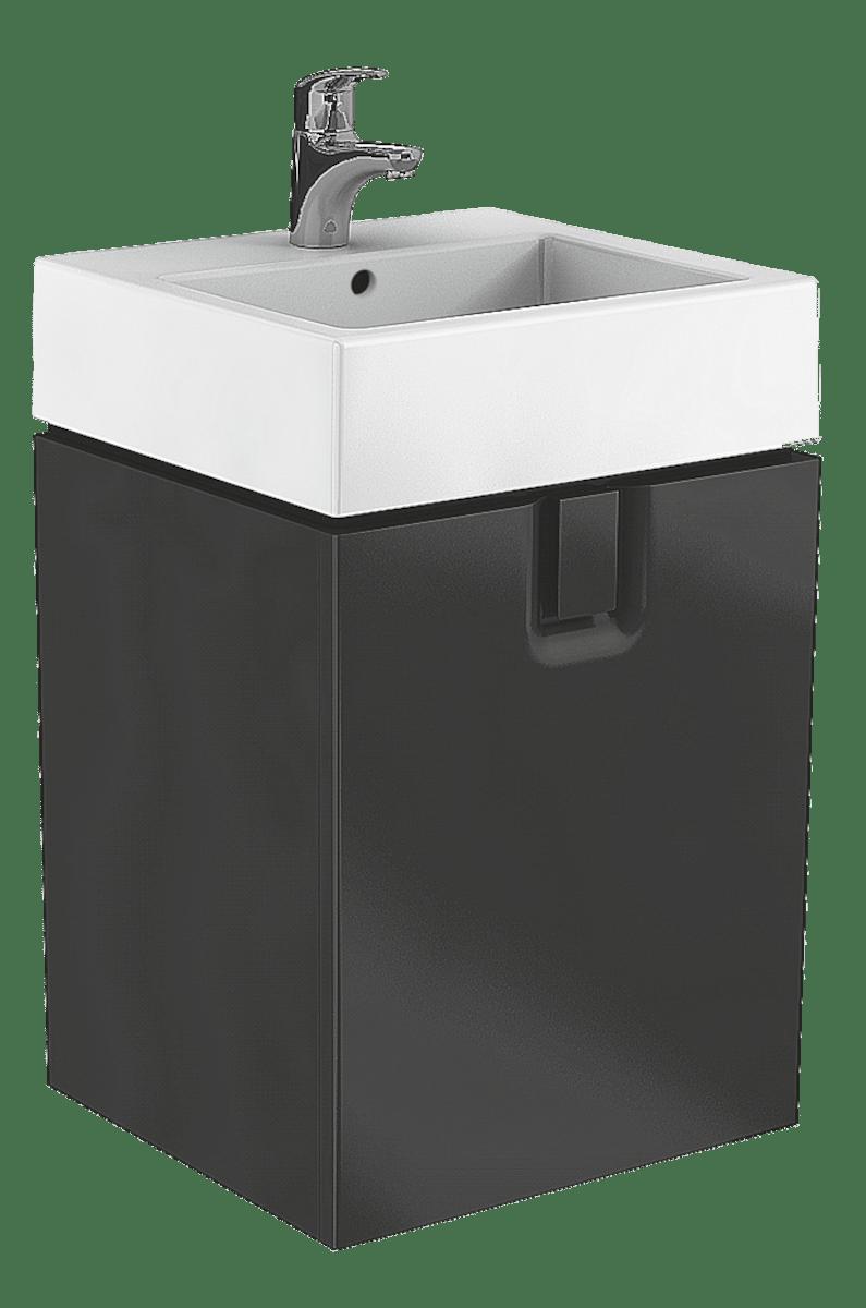 Kúpeľňová skrinka pod umývadlo Kolo Twins 50x46x57 cm čierna mat 89497000