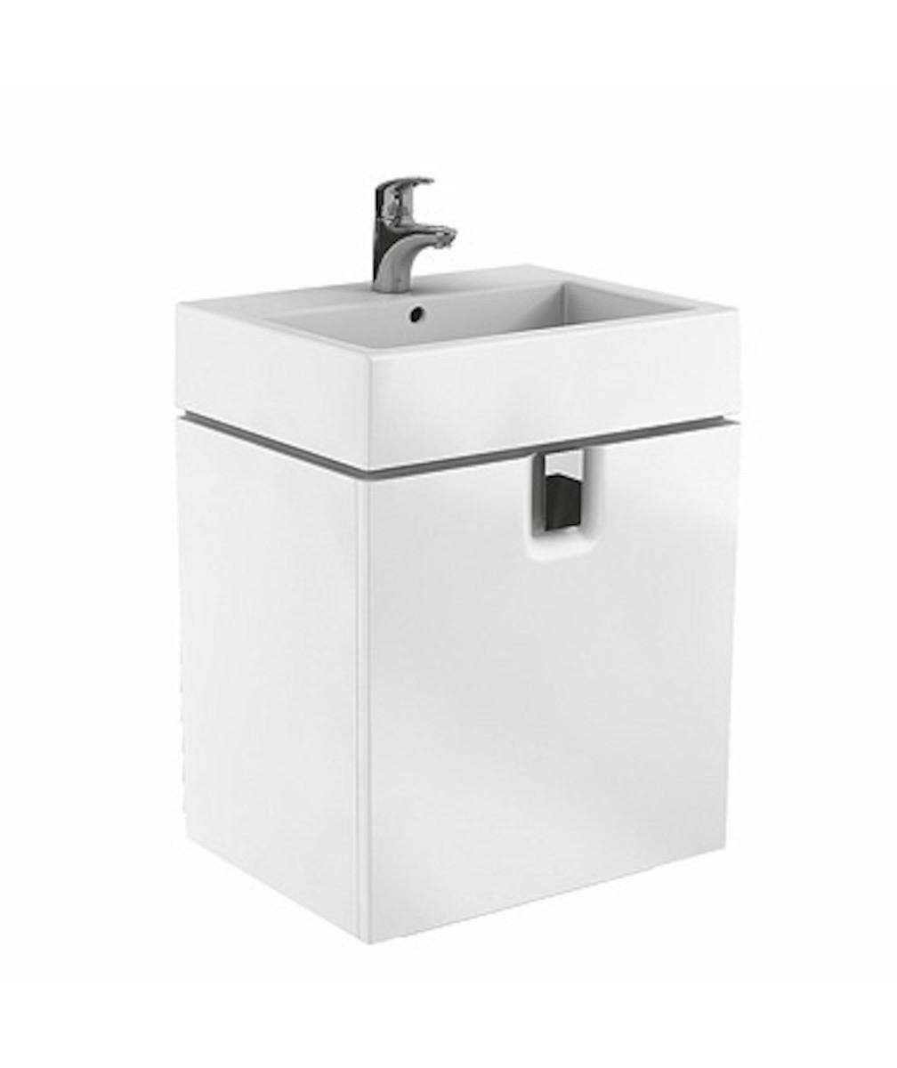 Kúpeľňová skrinka pod umývadlo Kolo Twins 60x46x57 cm biela lesk 89498000