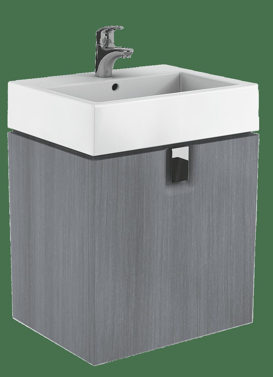 Kúpeľňová skrinka pod umývadlo Kolo Twins 60x46x57 cm v prevedení grafit strieborný 89499000