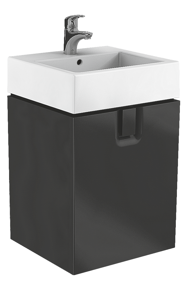 Kúpeľňová skrinka pod umývadlo Kolo Twins 60x46x57 cm čierna mat 89500000