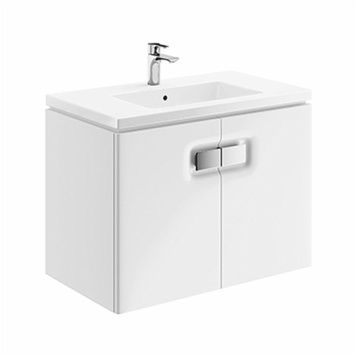 Kúpeľňová skrinka pod umývadlo KOLO Twins 80x57x46 cm biela lesk 89547000
