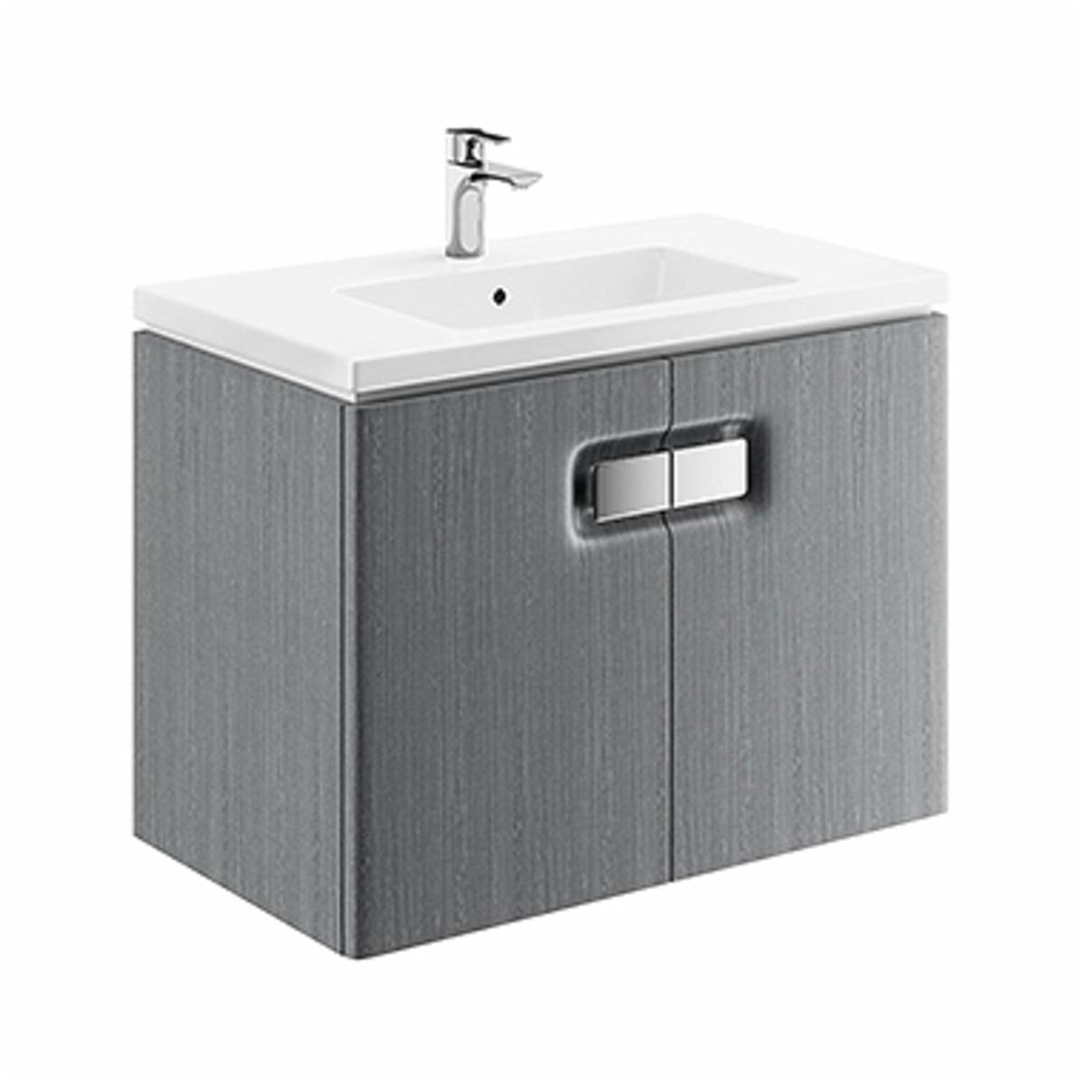 Kúpeľňová skrinka pod umývadlo Kolo Twins 80x57x46 cm strieborný grafit 89548000