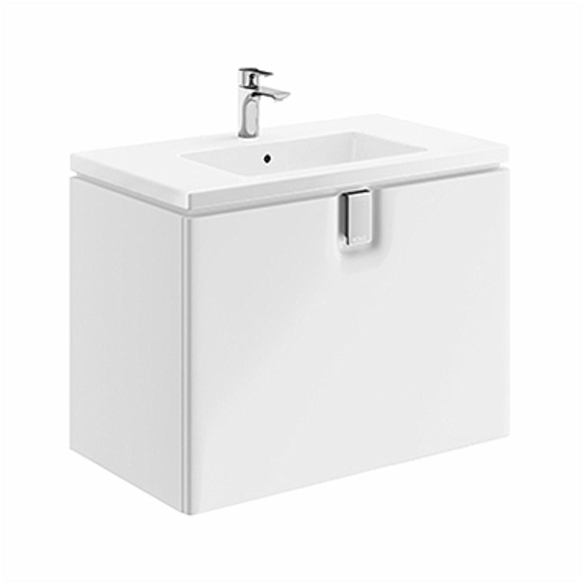 Kúpeľňová skrinka pod umývadlo KOLO Twins 80x57x46 cm biela lesk 89550000