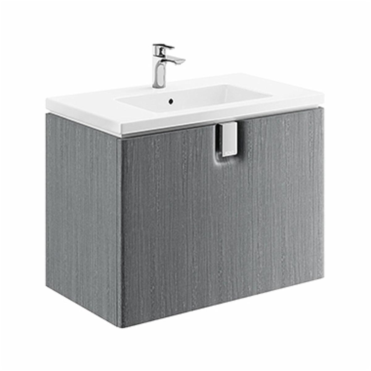 Kúpeľňová skrinka pod umývadlo KOLO Twins 80x57x46 cm strieborný grafit 89551000