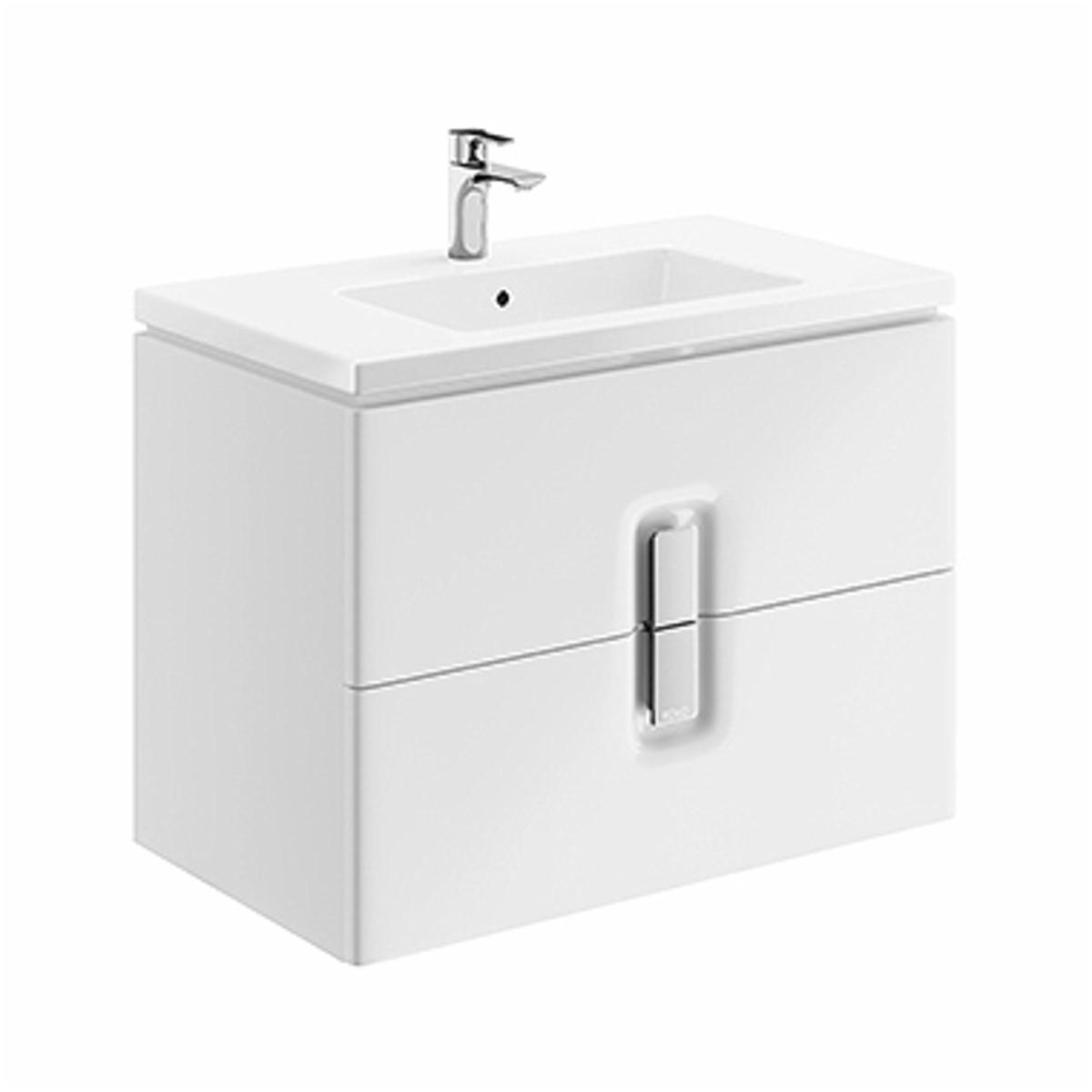 Kúpeľňová skrinka pod umývadlo KOLO Twins 80x57x46 cm biela lesk 89553000