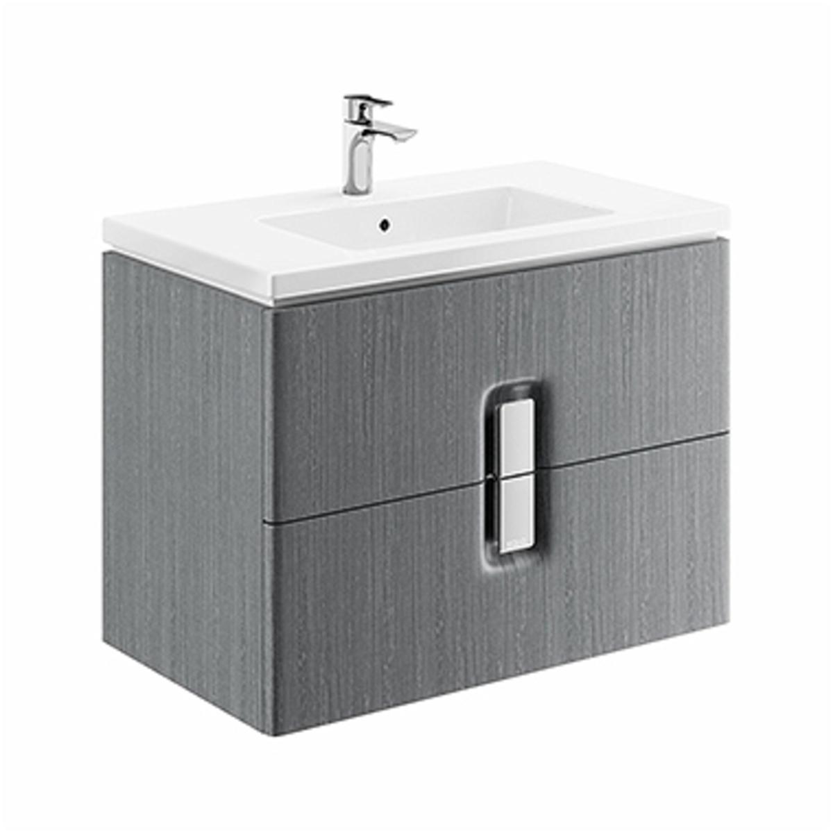 Kúpeľňová skrinka pod umývadlo KOLO Twins 80x57x46 cm strieborný grafit 89554000