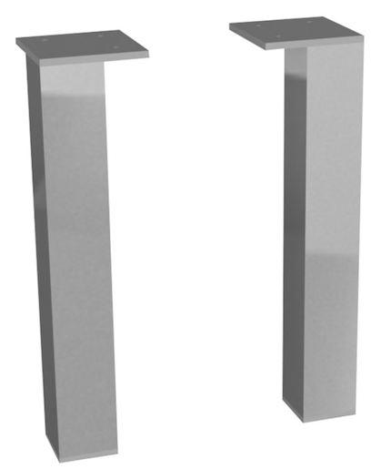Príslušenstvo nábytková noha Jika Cube 3,5x6x23,7 cm chróm H4944021760001