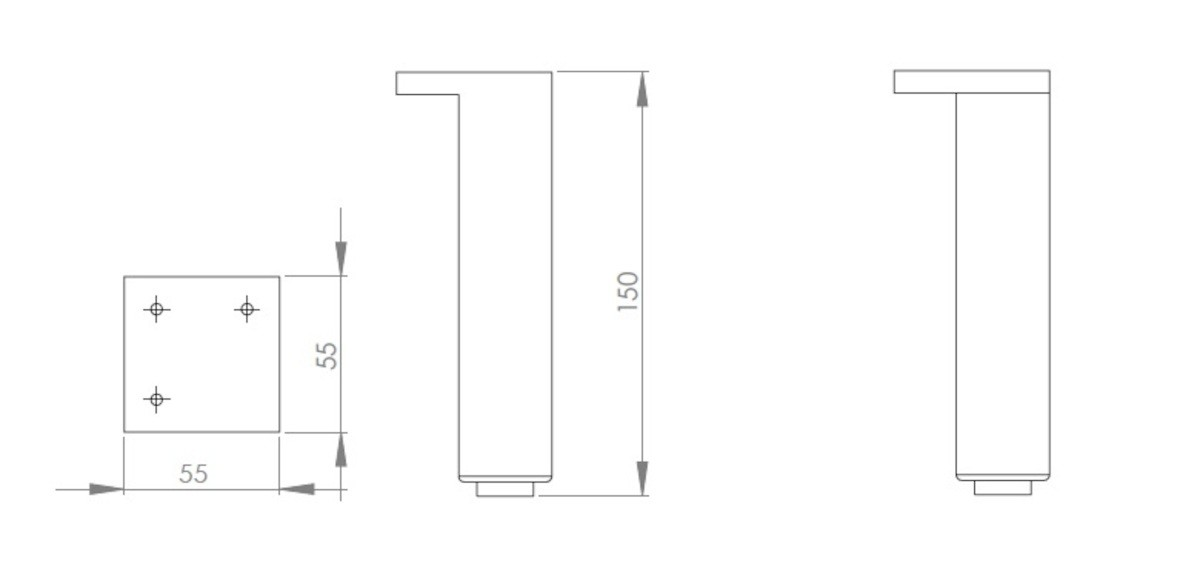 Príslušenstvo nábytková noha Kolo Rekord 5,5x15 cm 99274000