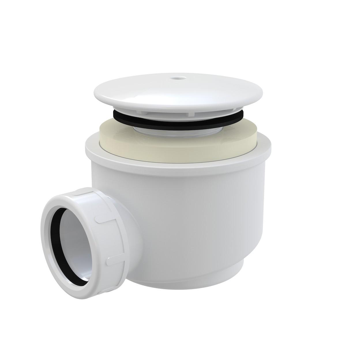 Sifón vaničkový, biela A47B-60 - Alcaplast sifón pre sprchové vaničky 60mm biely A47B-60