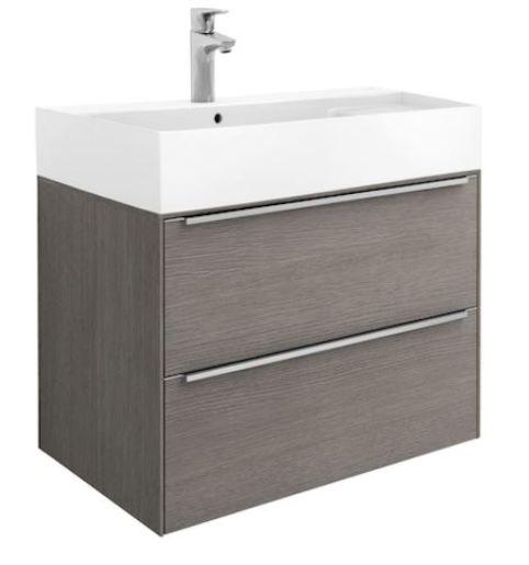 Kúpeľňová skrinka s umývadlom Roca Inspira 80x49,8x55,4 cm dub A851076402