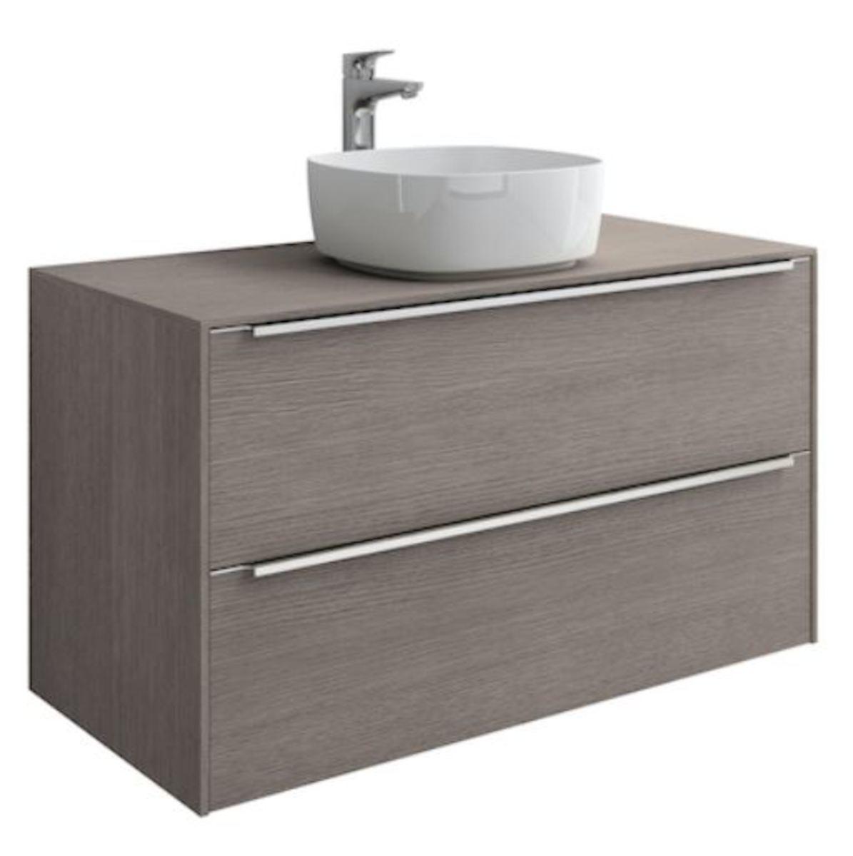 Kúpeľňová skrinka pod umývadlo Roca Inspira 100x49,8x54 cm dub A851081402