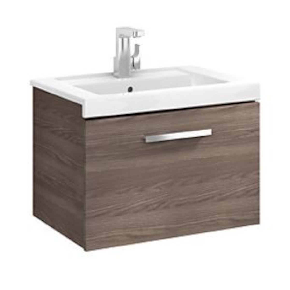 Kúpeľňová skrinka pod umývadlo Roca Prisma 90x46x42,4 cm v dekore jaseň A856875321