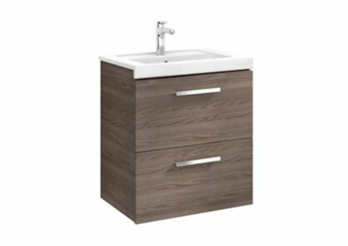 Kúpeľňová skrinka pod umývadlo Roca Prisma 59x46x66,7 cm v dekore jaseň A856881321