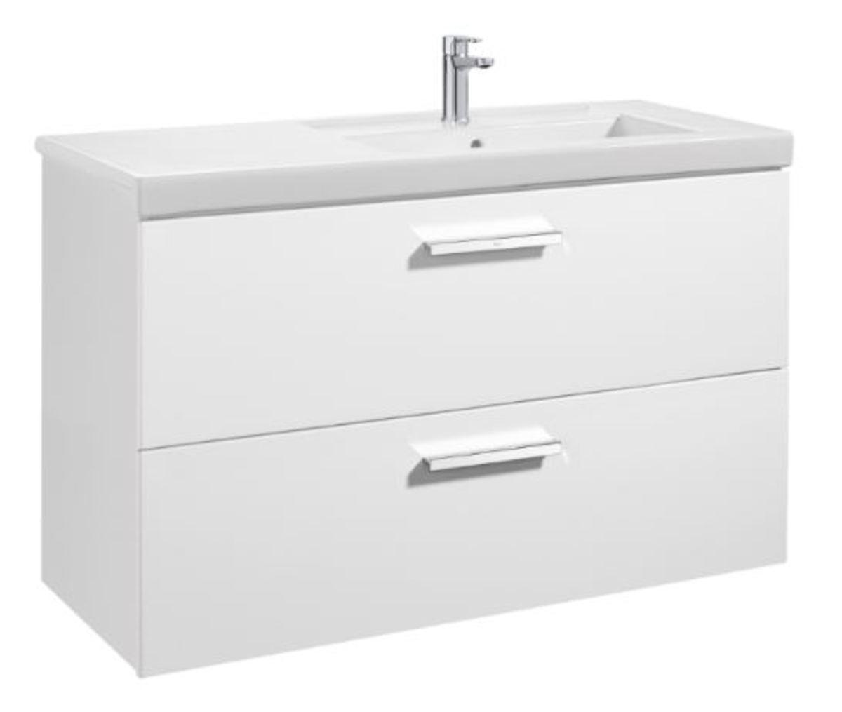 Kúpeľňová skrinka pod umývadlo Roca Prisma 79x46x66,7 cm biela A856882806