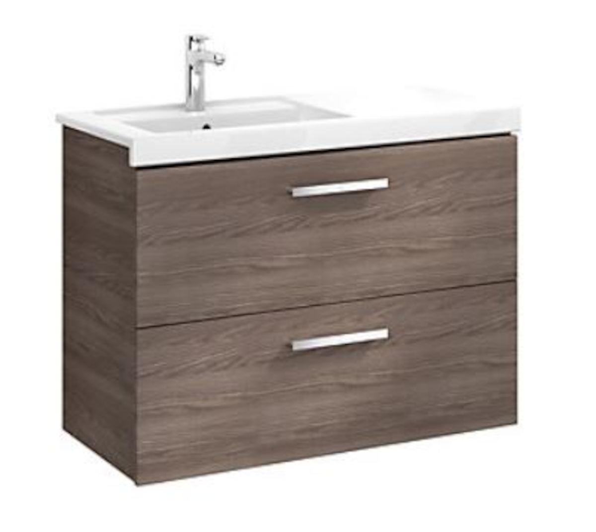 Kúpeľňová skrinka pod umývadlo Roca Prisma 90x46x66,7 cm v dekore jaseň A856883321