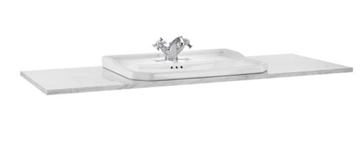 Doska pod umývadlo Roca Carmen 130x49,5x3,2 cm biela mat A857142420