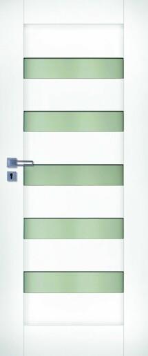 Interiérové dvere Naturel Accra ľavé 60 cm biele ACCRABF60L