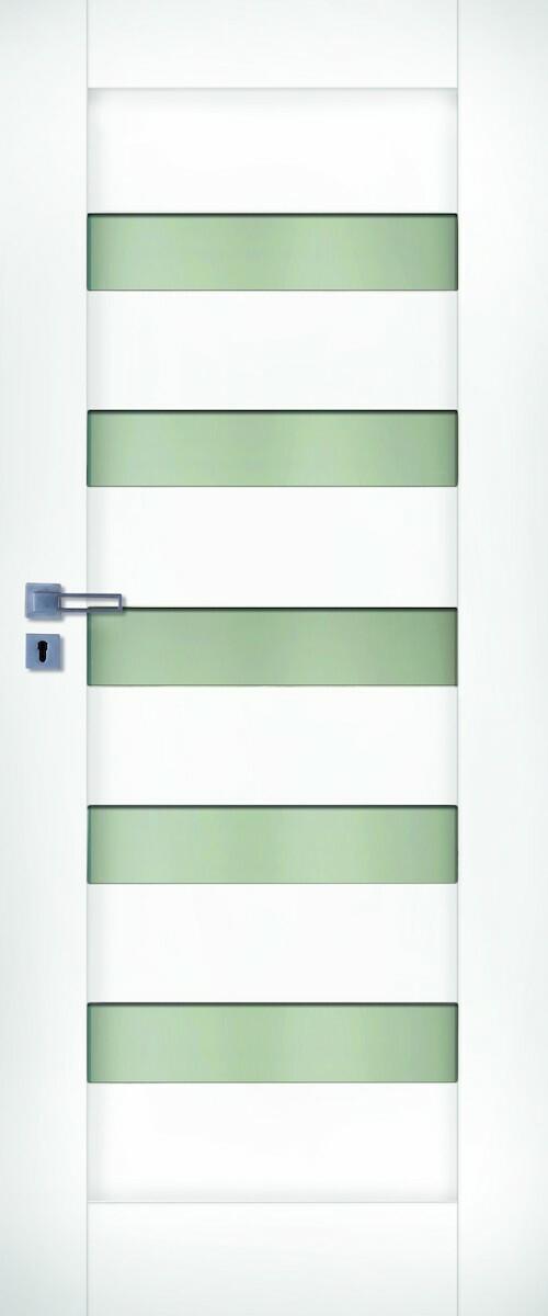 Interiérové dvere Naturel Accra pravé 60 cm biele ACCRABF60P