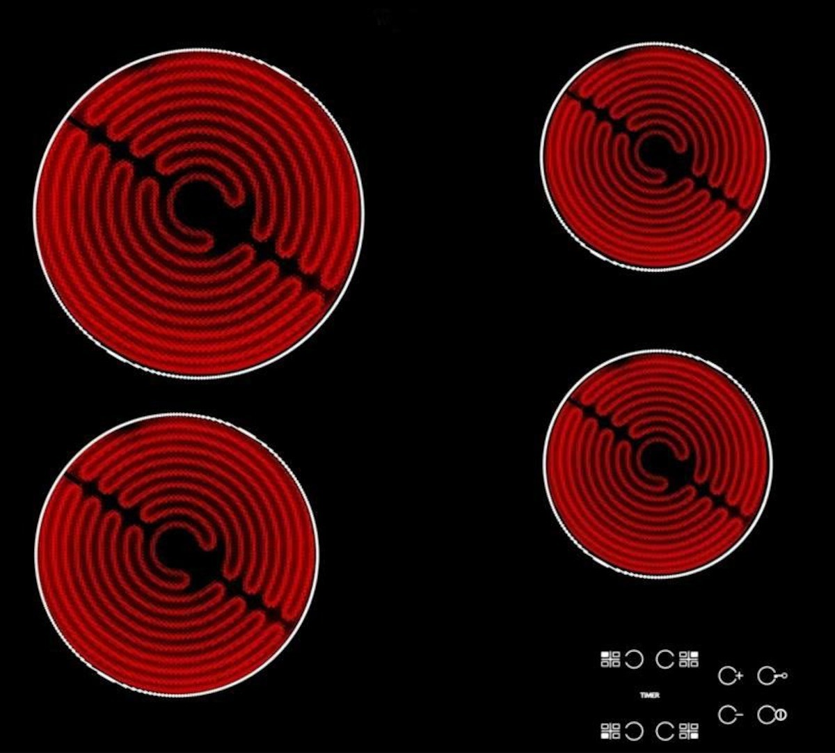 Sklokeramická varná doska Whirlpool čierna AKT8090NE
