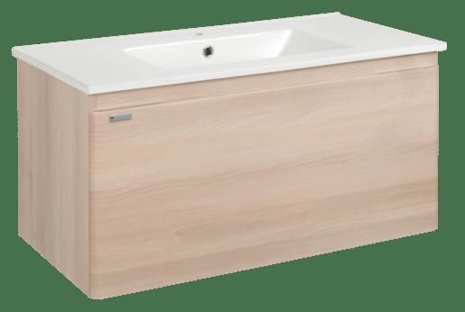 Kúpeľňová skrinka s umývadlom Naturel Ancona 100x46 cm akácie ANCONA100DV