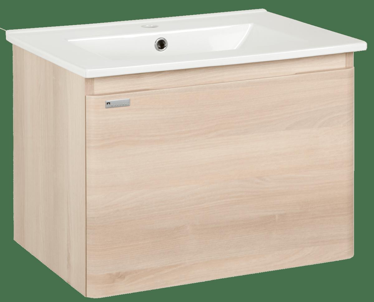 Kúpeľňová skrinka s umývadlom Naturel Ancona 60x46 cm akácie ANCONA60DV