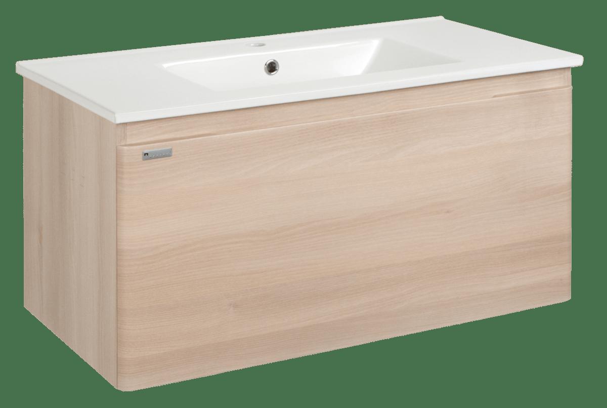 Kúpeľňová skrinka s umývadlom Naturel Ancona 90x46 cm akácie ANCONA90DV