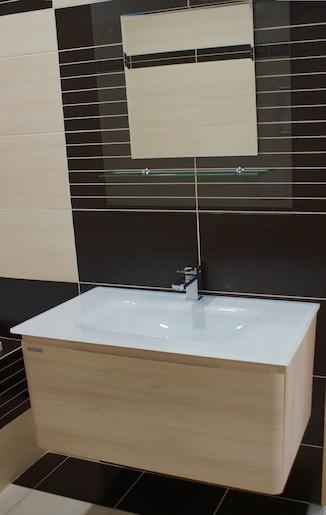 Kúpeľňová skrinka s umývadlom Naturel Ancona 100x46 cm akácie ANCONAS100Z