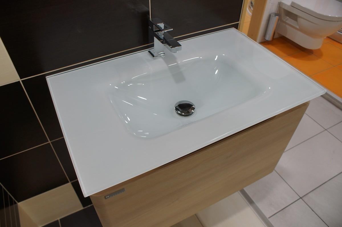 Kúpeľňová skrinka s umývadlom Naturel Ancona 90x46 cm akácie ANCONAS90Z