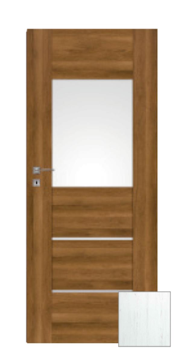 Interiérové dvere Naturel Aura pravé 60 cm borovica biela AURA2BB60P