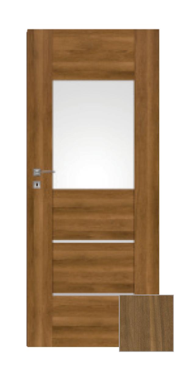 Interiérové dvere Naturel Aura pravé 60 cm orech karamelový AURA2OK60P