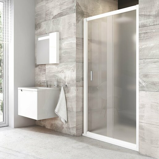 Sprchové dvere 100x190 cm Ravak Blix biela 0PVA0100ZG
