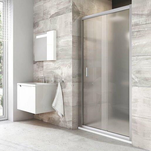 Sprchové dvere 100x190 cm Ravak Blix chróm matný 0PVA0U00ZG