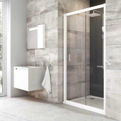 Sprchové dvere 100x190 cm Ravak Blix biela 0PVA0100Z1