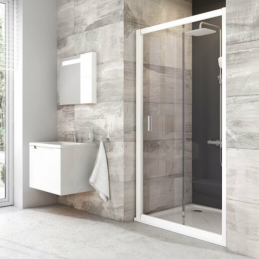 Sprchové dvere 110x190 cm Ravak Blix biela 0PVD0100Z1
