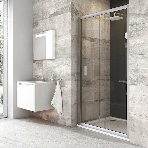 Sprchové dvere 120x190 cm Ravak Blix chróm matný 0PVG0U00Z1