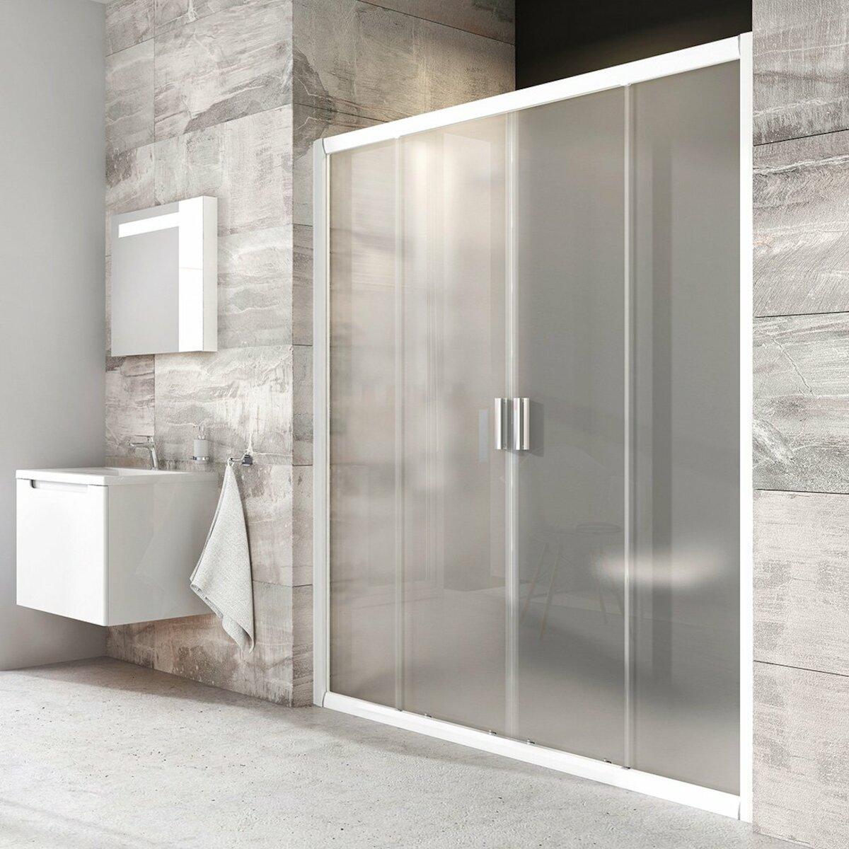 Sprchové dvere 120x190 cm Ravak Blix biela 0YVG0100ZG