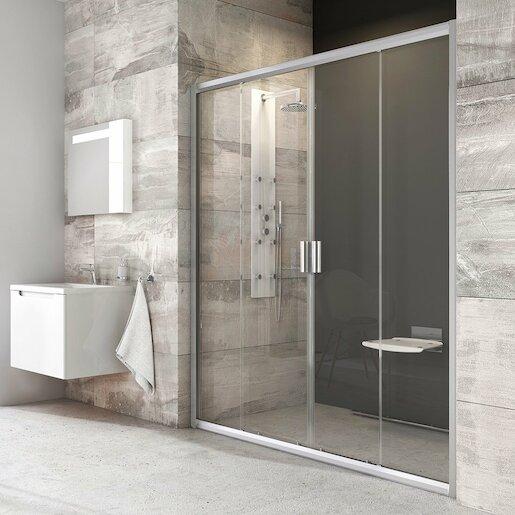 Sprchové dvere 140x190 cm Ravak Blix chróm matný 0YVM0U00Z1