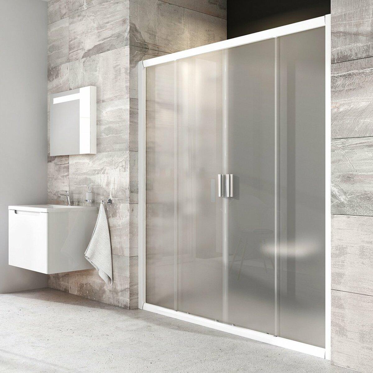 Sprchové dvere 160x190 cm Ravak Blix biela 0YVS0100ZG