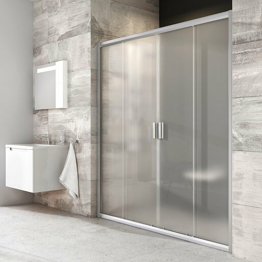 Sprchové dvere 160x190 cm Ravak Blix chróm matný 0YVS0U00ZG