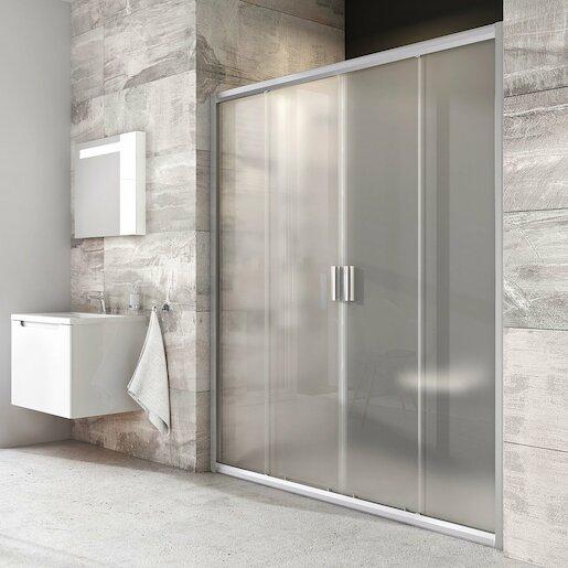 Sprchové dvere 200x190 cm Ravak Blix chróm matný 0YVK0U00ZG