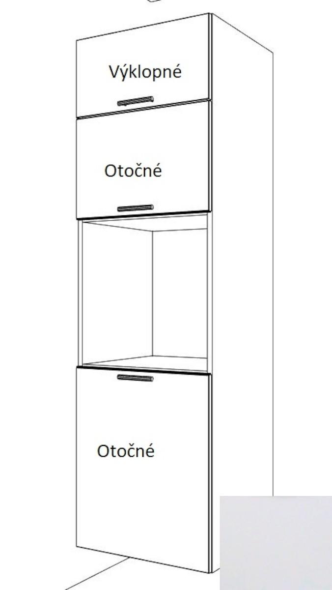 Kuchynská skrinka pre rúru vysoká Naturel Gia 60 cm biela mat BO60214BM