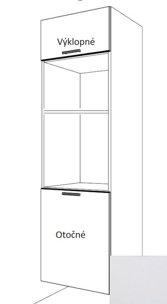 Kuchynská skrinka pre rúru a mikrovlnnú rúru vysoká Naturel Gia 60 cm biela mat BOM60214BM