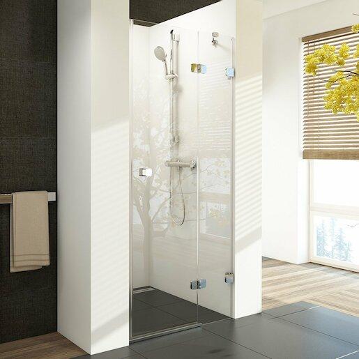 Sprchové dvere Ravak Brilliant jednokrídlové 100 cm, sklo číre, chróm profil, pravé 0UPAAA00Z1