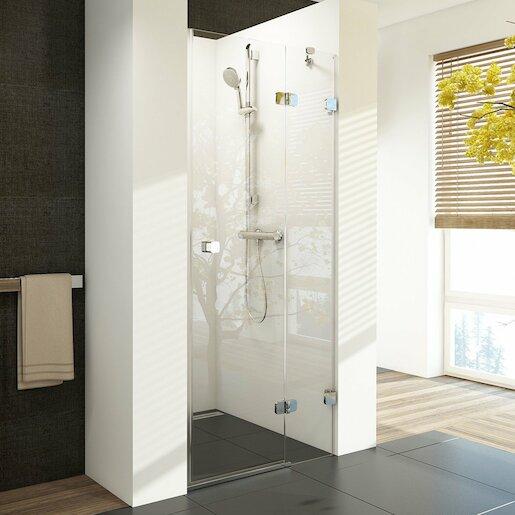 Sprchové dvere Ravak Brilliant jednokrídlové 80 cm, sklo číre, chróm profil, pravé 0UP4AA00Z1