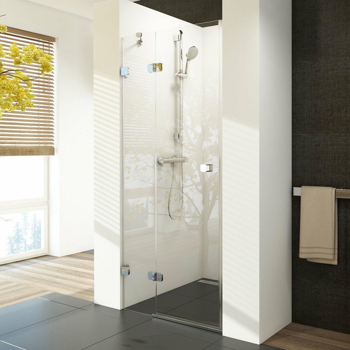 Sprchové dvere Ravak Brilliant jednokrídlové 90 cm, sklo číre, chróm profil, ľavé 0UL7AA00Z1
