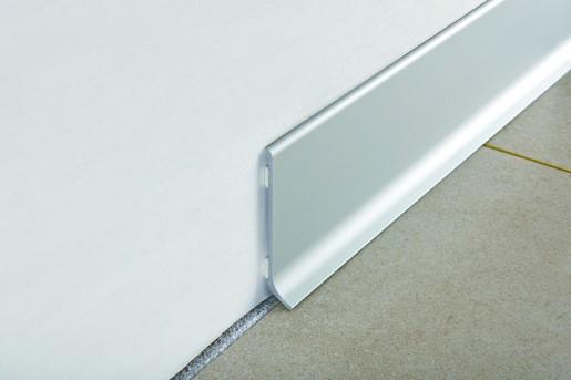 Sokel hliník elox strieborná, dĺžka 200 cm, výška 60 mm, BTAA60